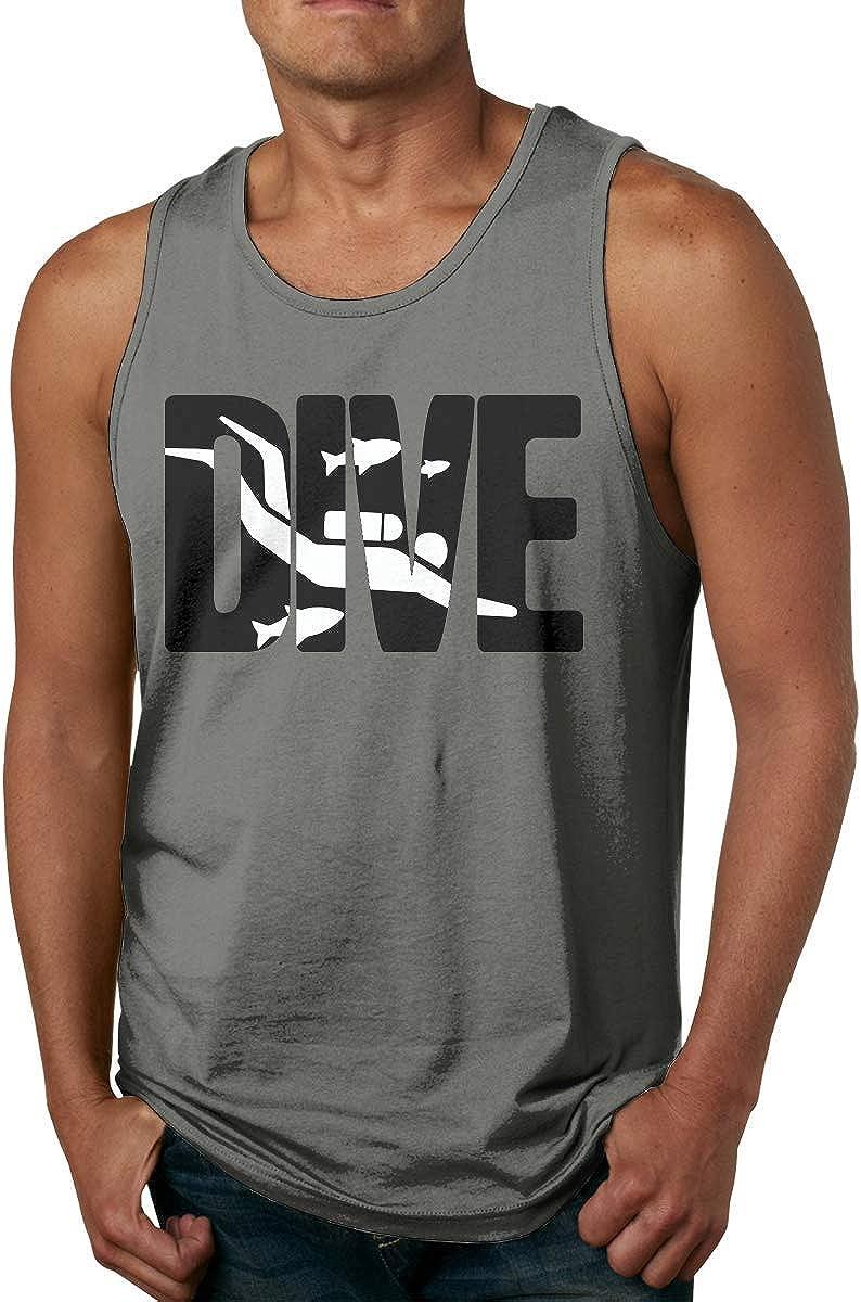 KLKLK Canotta Dive Scuba Diving Mens Essential Muscle Sleeveless T-Shirt Tank Top Vest for Running