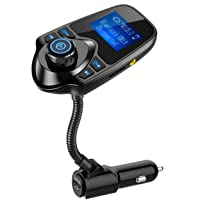 Nulaxy Bluetooth Car FM Transmitter Audio Adapter Receiver Wireless Hands Free Car...