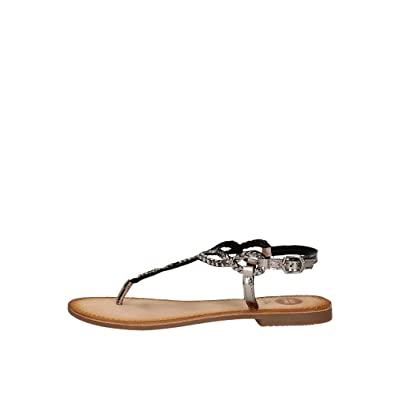Gioseppo ARANZAZU 39157 schwarze Sandalen schwarze Frau Leder Edelsteine 37 5VlJvas08