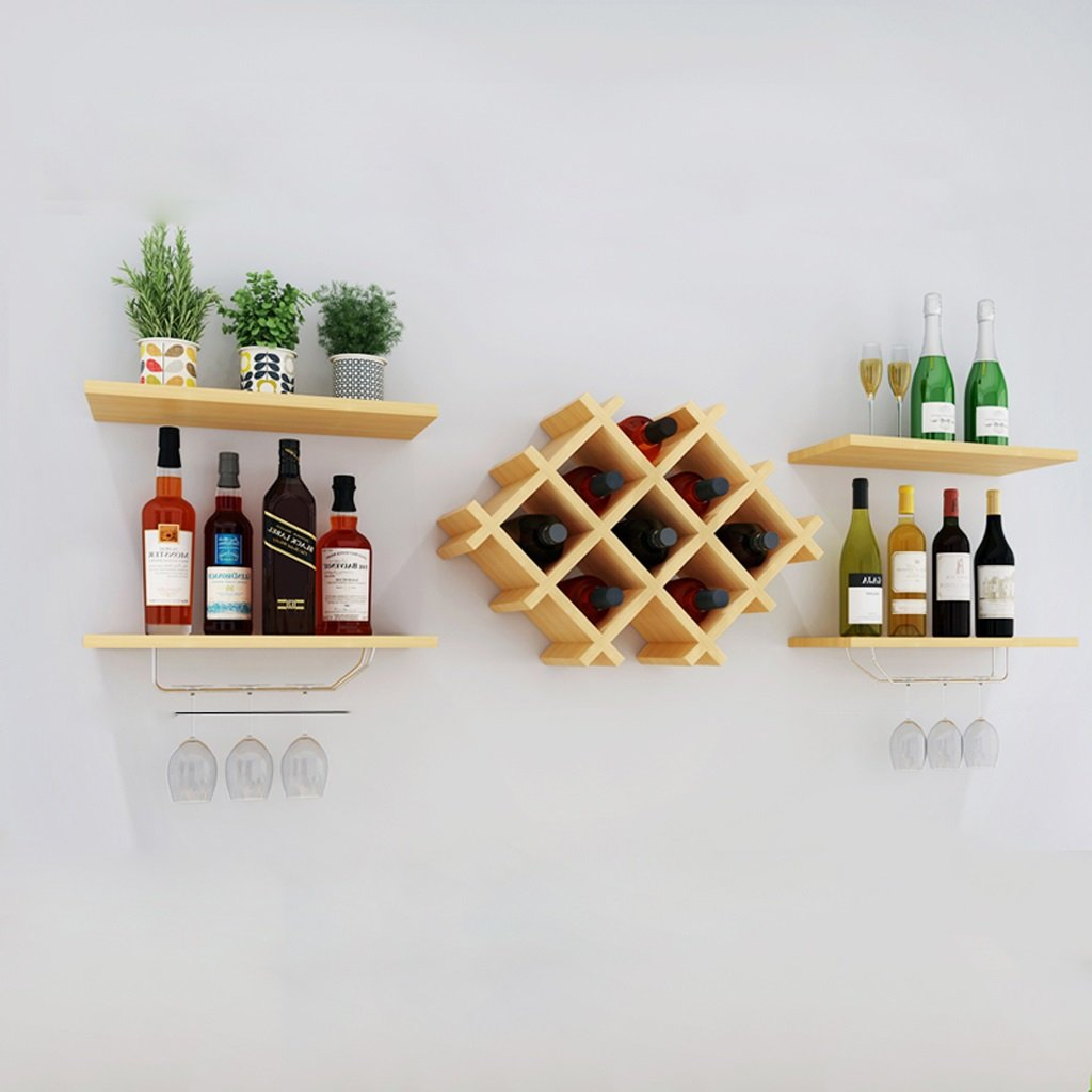 Wallpiping Wall Decorative Wine Rack Restaurant Shelf Deck Suspension Storage Tower ( Size : 15040 ) by LITINGMEI Shelf (Image #1)