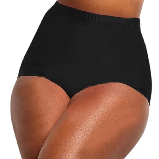533c95bc92 Amazon.com: GONKOMA High Waisted Bikini Bottoms Swim Briefs Plus Size  Tankini Swimming Bathing Pants for Women: Clothing