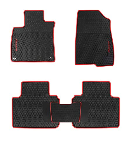 Amazon.com: HD-Mart Car Rubber Floor Mat for Honda Accord 10th Generation 2018-2019 Custom Fit Black Auto Liner Mats All Weather Heavy Duty & Odorless: ...