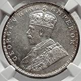 1917 Antique Indian AR Rupee Coin of India under George V NGC MS62 i65230
