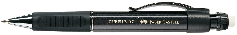 Schaftfarbe: schwarz metallic Minenst/ärke: 0,7 mm Druckbleistift GRIP PLUS Faber-Castell 130733