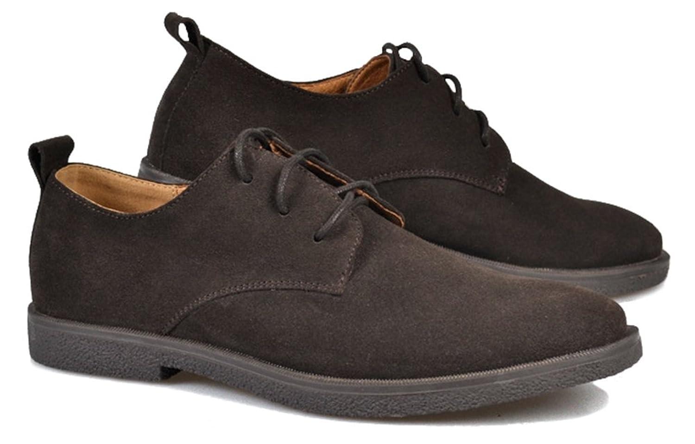Zapatos de cordones de gamuza para hombre, tela Oxford, de Fangsto, color Multicolor, talla 4.5 UK
