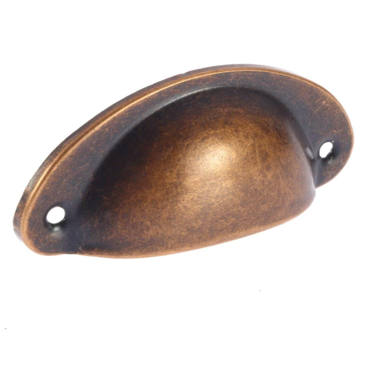 Tellaboull 1//2 Pezzi Nero a Forma di Conchiglia in Lega di Zinco dEpoca Porta dellArmadio cassettiera Contenitore Maniglie per mobili maniglione pomello Peso Leggero