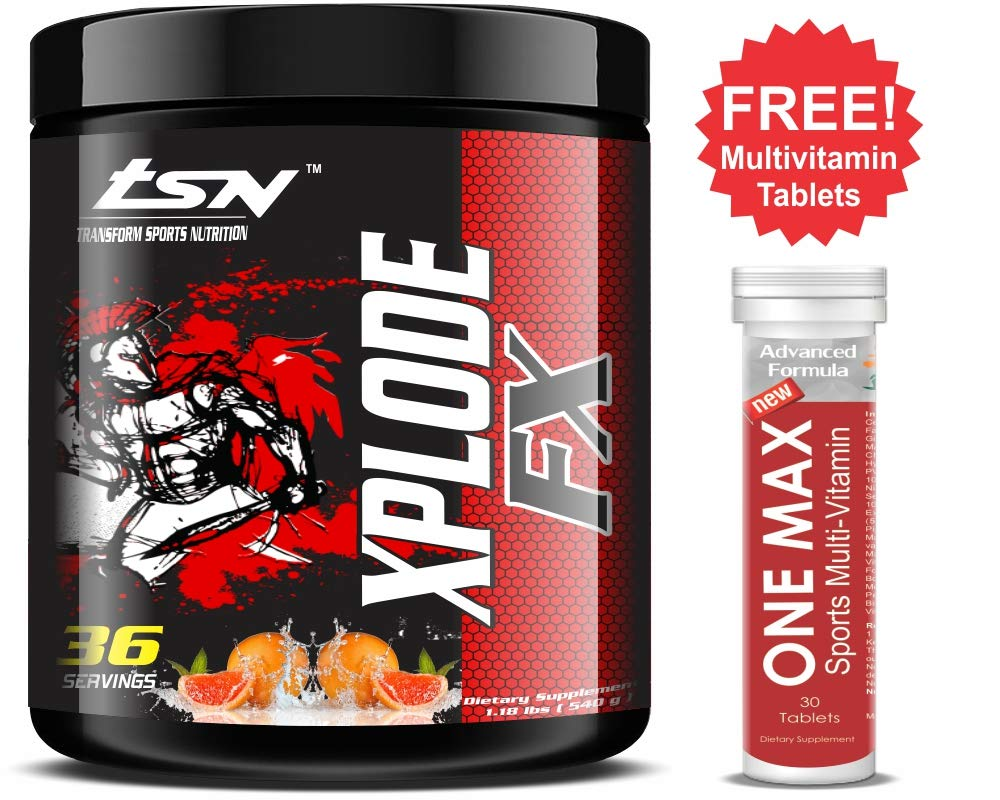Da Muscle Store Transform Sports Nutrition-Xplode FX-Advance Pre Workout 36  Servings (540 g, Orange): Amazon.in: Health & Personal Care