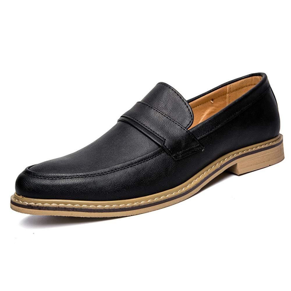 GLSHI Herrenmode Wies Schuhe England-Slip Auf Bequemen Lederschuhen Der Freizeitschuhe Aus