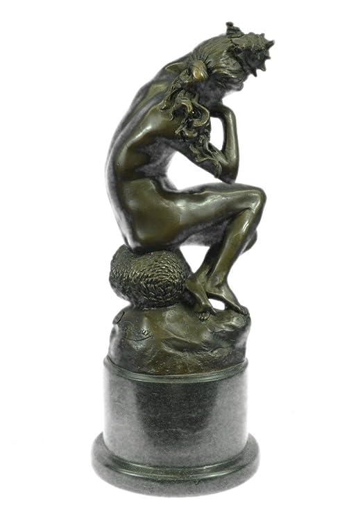 Amazon 手作りのブロンズ彫刻像...