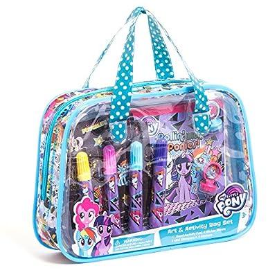 My Little Pony Children Kids Girls Art and Activity Supplies Bag Set 22pcs Ages 3+: Toys & Games