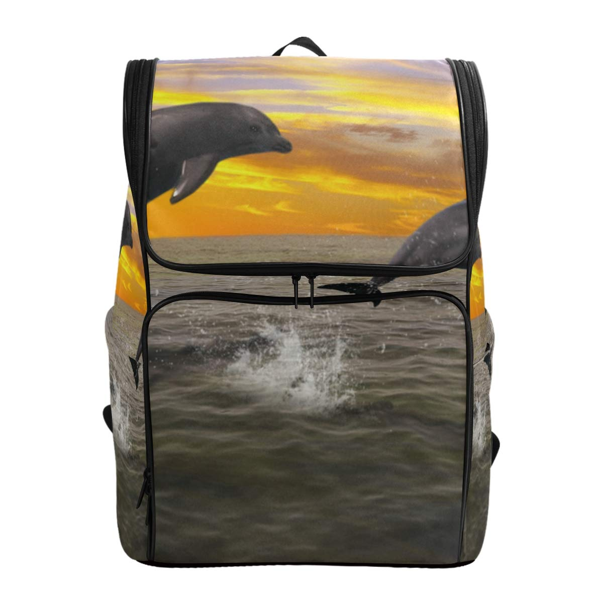 Travel Backpack Humans Or Dolphins Summer Duffle