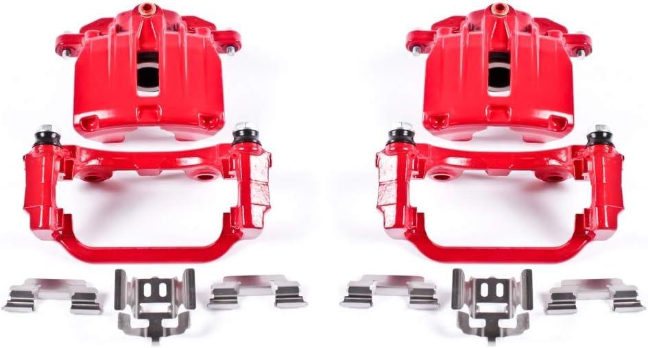 Power Stop S3302 Performance Rear Powder Coated Brake Caliper Pair