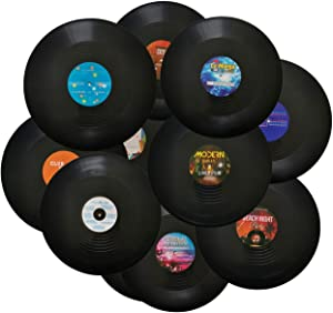 MINI ZOZI 12 inch Blank Vinyl Records Fake 10 Pieces in 1 Pack for Indie Aesthetic Room Decor or Home Decor on Wall for Bedroom or Living Room Discos Music Studio Hip Hop Decorative Purpose