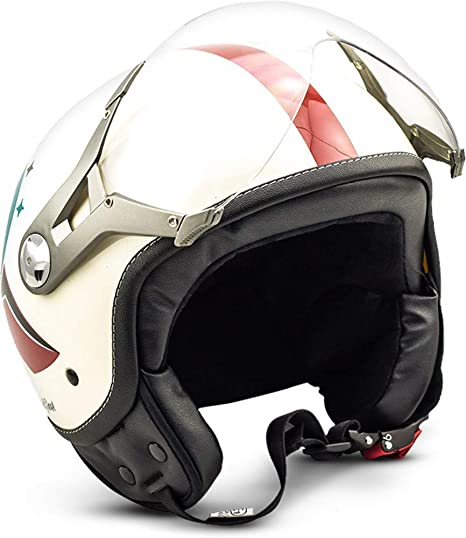 Soxon Sp 325 Winner Jet Helm Motorrad Helm Roller Helm Scooter Helm Moped Mofa Helm Chopper Retro Vespa Vintage Pilot Biker Helmet Damen Ece 22 05 Visier Schnellverschluss Tasche Xl 61 62cm Auto