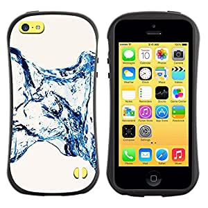 "Hypernova Slim Fit Dual Barniz Protector Caso Case Funda Para Apple iPhone 5C [Water Effect minimalistas Escaleras""]"