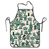 stylish&home Cactus Succulents Potted Plant Cacti Desert Waterproof Chef Aprons