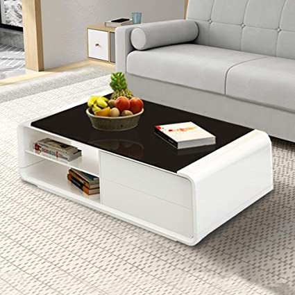 White Gloss Coffee Table With Storage 6