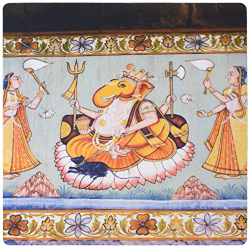 3dRose Mural Painted on the Wall, Mehrangarh Fort, Jodhpur, Rajasthan, India Mouse Pad (mp_188254_1)