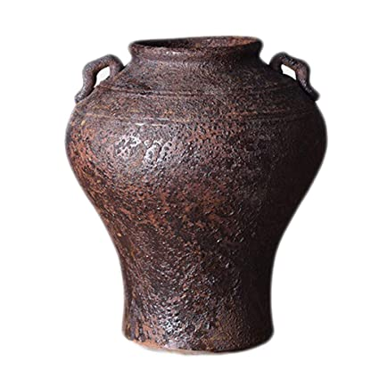 Amazon com: Vase Ceramic Vintage Stone Pottery Jar Old Home