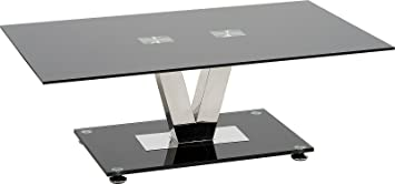 Tremendous Modern Furniture Direct Stylish Black Glass Coffee Table Ultra Modern Low Living Room Table Large Occasional Glass And Metal Table 120 X 70 Cm Inzonedesignstudio Interior Chair Design Inzonedesignstudiocom