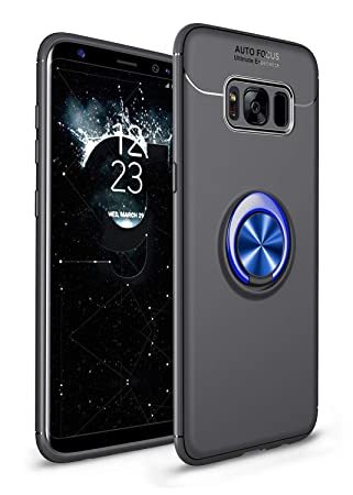 SORAKA Funda para Samsung Galaxy S8 Plus, rotación de 360 Grados, Carcasa de TPU Delgada, imán a Prueba de Golpes, Funda para Soporte de Coche para ...