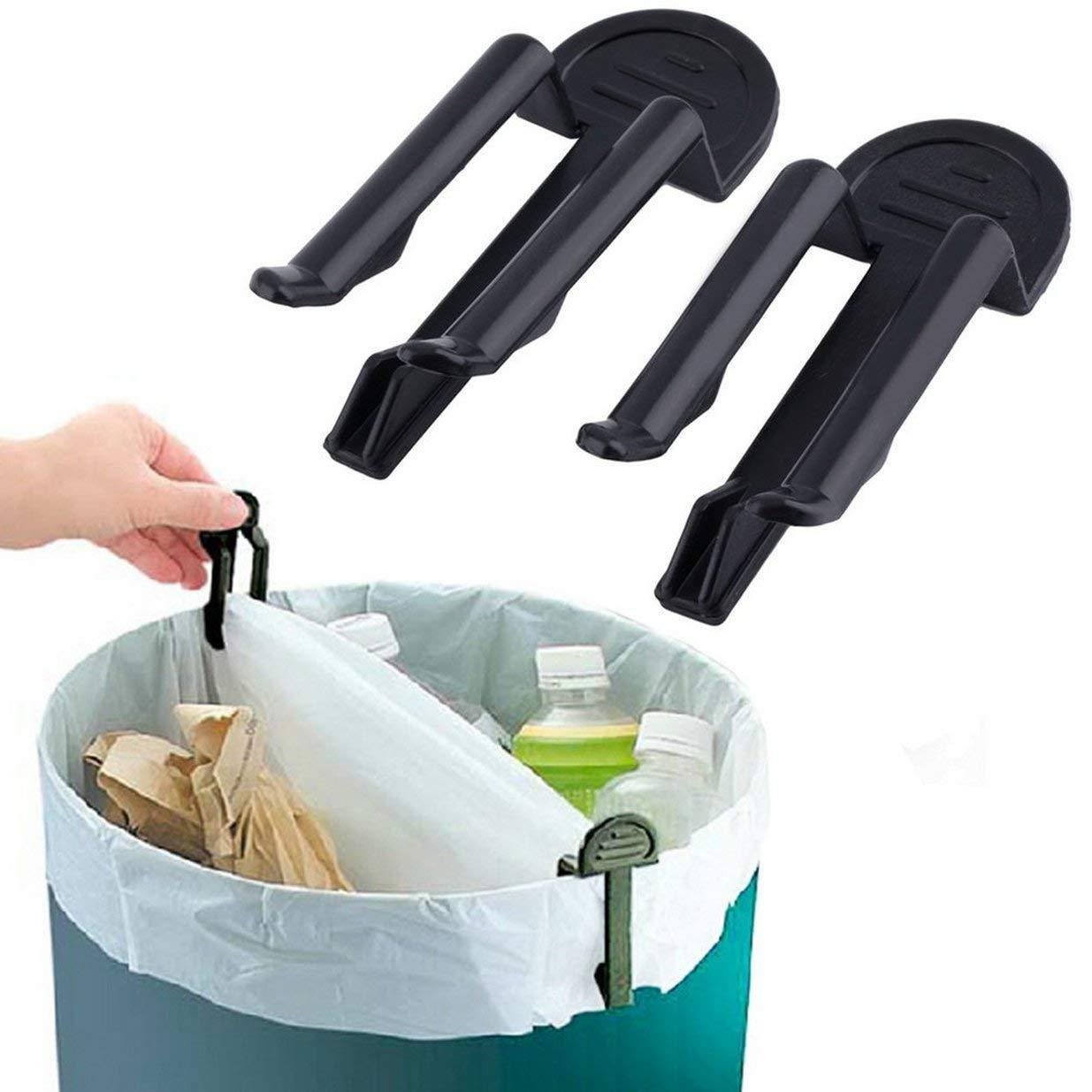 Sairis Pratica pattumiera con Morsetto Clip per Sacchetti di immondizia in plastica Portarifiuti Fisso Porta rifiuti 2 Pezzi//Set