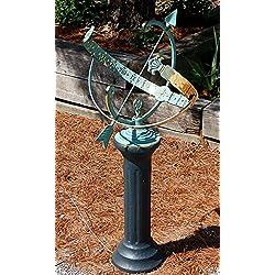 BestNest Rome Star Armillary Sundial and Roman Pedestal