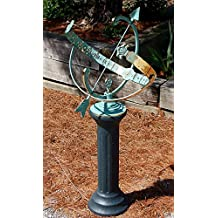 Rome Star Armillary Sundial and Roman Pedestal