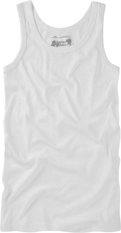 Charles Wilson 6 Pack Plain Vest Undershirt Tank Top