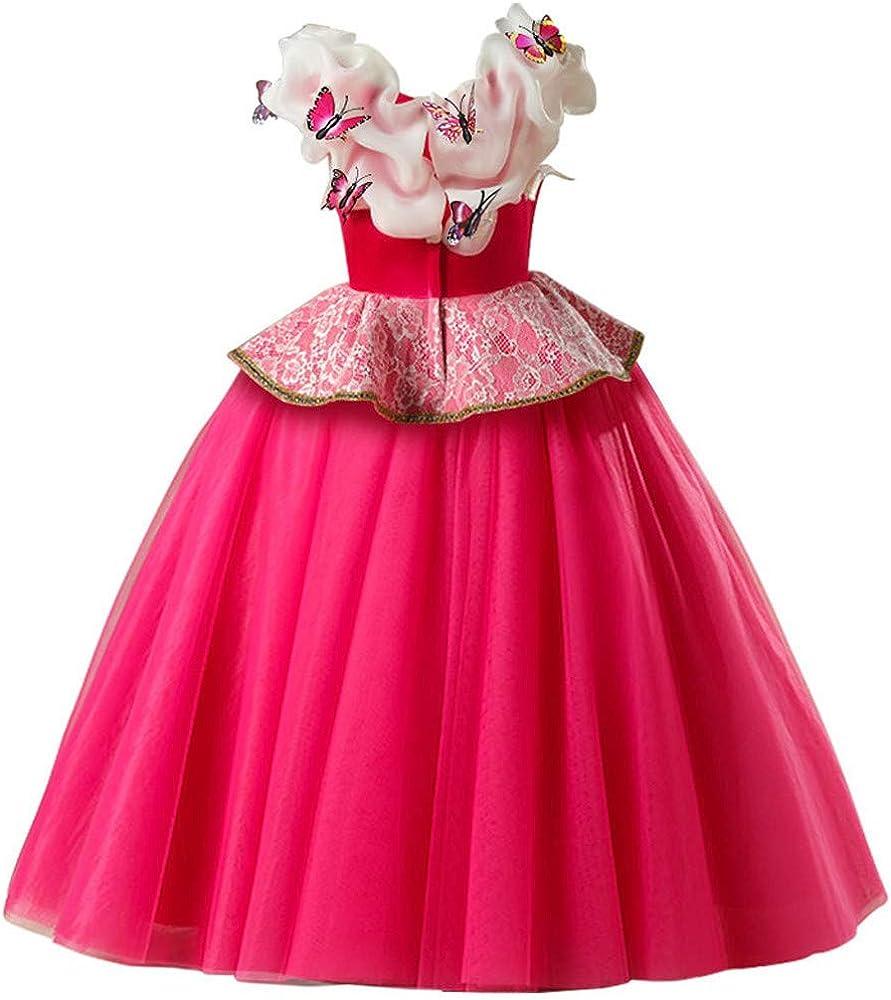 OPAKY Disfraz de Princesa Aurora Vestido, Traje de Bella Durmiente ...