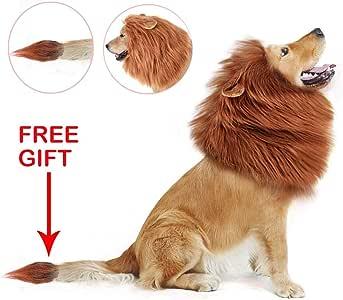 BANGBIU Peluca de Melena de león Mascotas, Disfraz de Melena de ...