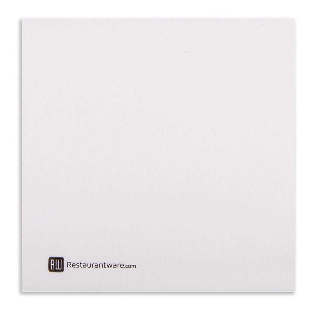 Paper Napkins, Dinner Napkins - Greco White - Soft & Durable - 16'' x 16'' - Disposable - Luxenap Air Laid - 600ct Box - Restaurantware
