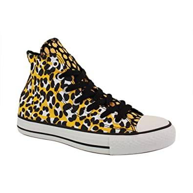 89a12e4a1797 Converse Chuck Taylor Leopard Print Hi 540284F Womens Canvas Laced Trainers  Gold - 5  Amazon.co.uk  Shoes   Bags