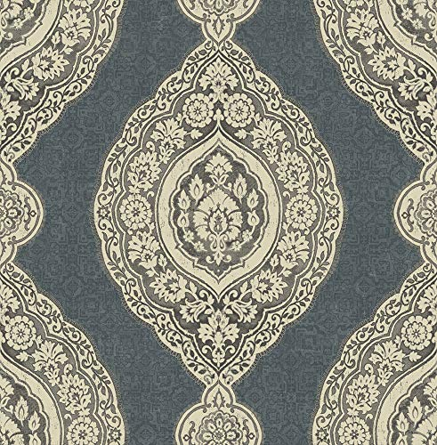Oval Medallion Wallpaper in Admiral RN70218 from -