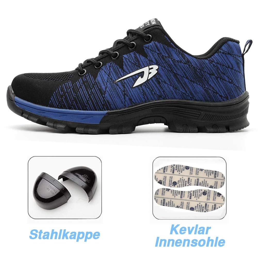 Scarpe Antinfortunistiche da Uomo Punta in Acciaio Sneakers da Lavoro Leggere ed Eleganti