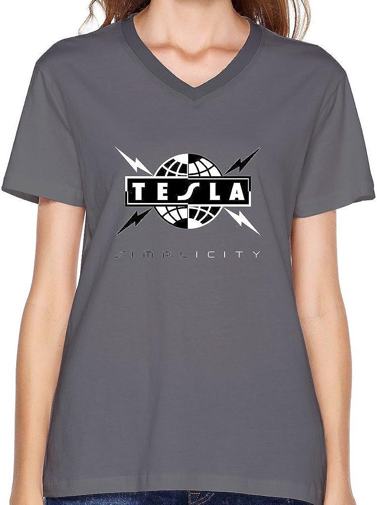 Tesla T-shirt Funny Birthday Cotton Tee Vintage Gift For Men Women