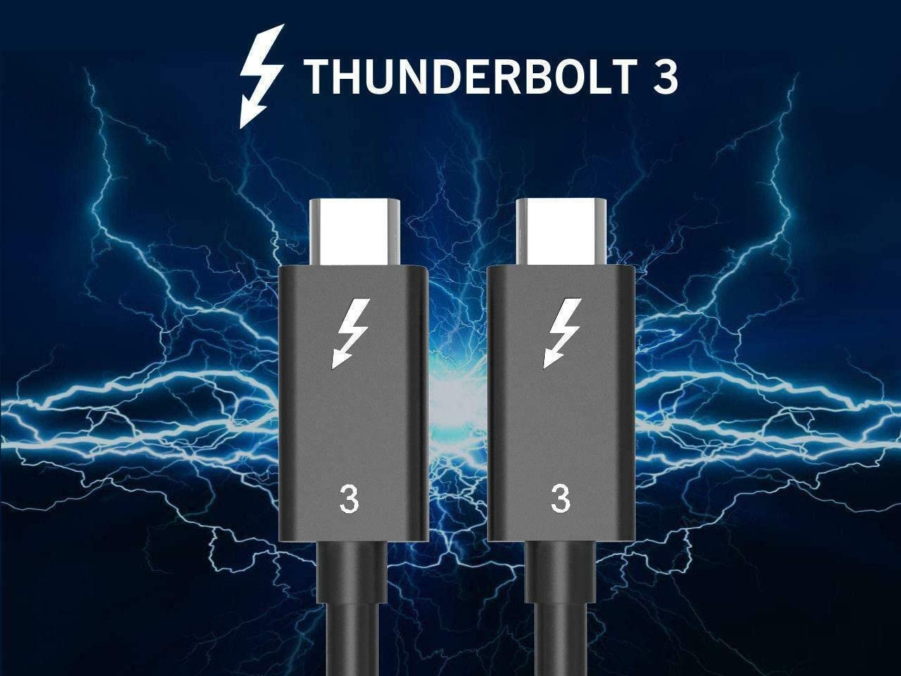 Alienware 17 and More ThinkPad Yoga Compatible with New MacBook Pro 1.6ft//0.5m Thunderbolt 3 to Thunderbolt 3 Male to Male Cord 100W TREBLEET 40Gbps Thunderbolt 3 Cable