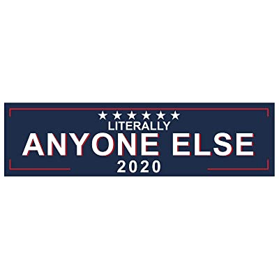 "EvolveFISH Literally Anyone Else 2020 Bumper Sticker - [11"" x 3""]: Automotive"
