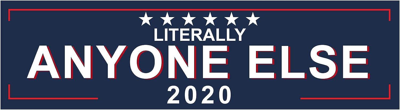 11 x 3 EvolveFISH Literally Anyone Else 2020 Bumper Sticker