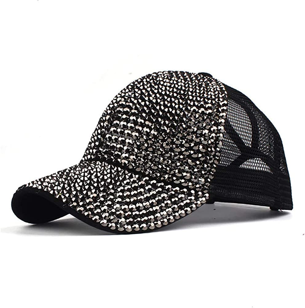 Cap For Women Clearance Gabrerry Women Rhinestone Hats Female Baseball Cap Bling Diamond Hat Unique Design Stylish Sun Hat Casual Outdoor Activities Hat Running Hat Camping Hat Hiking Hat