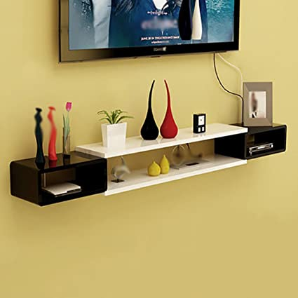 Amazon.com: Living Room Set-top Box Racks Wall-mounted TV Cabinet TV ...