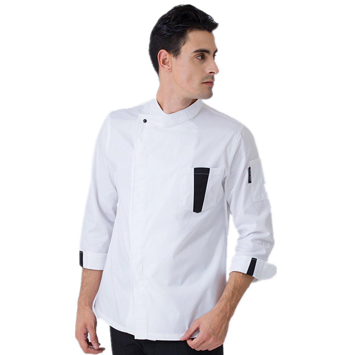 XINFU Chef's Uniform White Long-Sleeve Hotel Western Restaurant Chef Jacket French Underarm Breathable Chef Coat