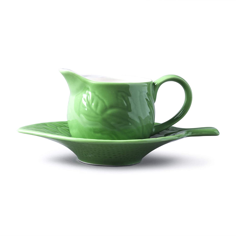 WM Bartleet /& Sons Raditional Porcelaine Mint Sauci/ère avec support//soucoupe