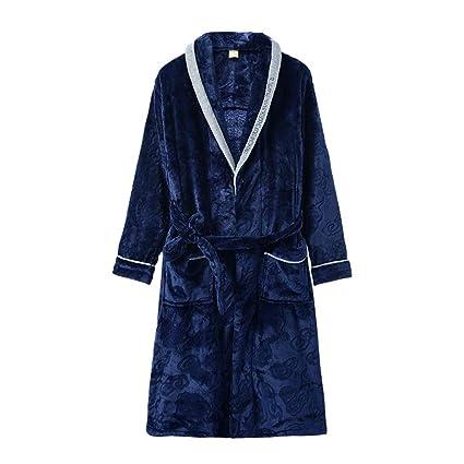 Pijamas Hombres Gruesos Servicio a Domicilio casa camisón Largo de Hombres Batas de baño Hombres Servicio