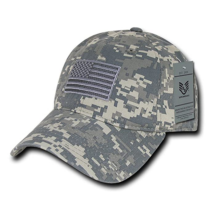 8db9c3e79 Rapid Dominance American Flag Embroidered Washed Cotton Camo Cap
