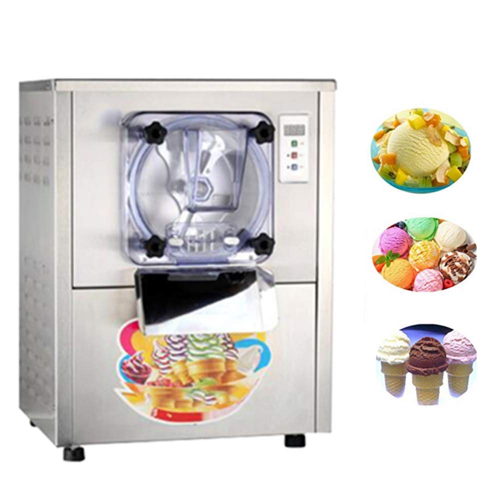Commercial Hard Ice Cream Machine 20L/h Stainless Steel Ice Cream Maker With Brand New LCD Display System