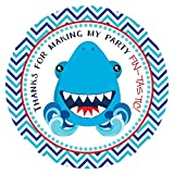 Shark Fish Thank You Sticker Labels - Party Favor Stickers for Kids Birthday Decoration - Set of 30