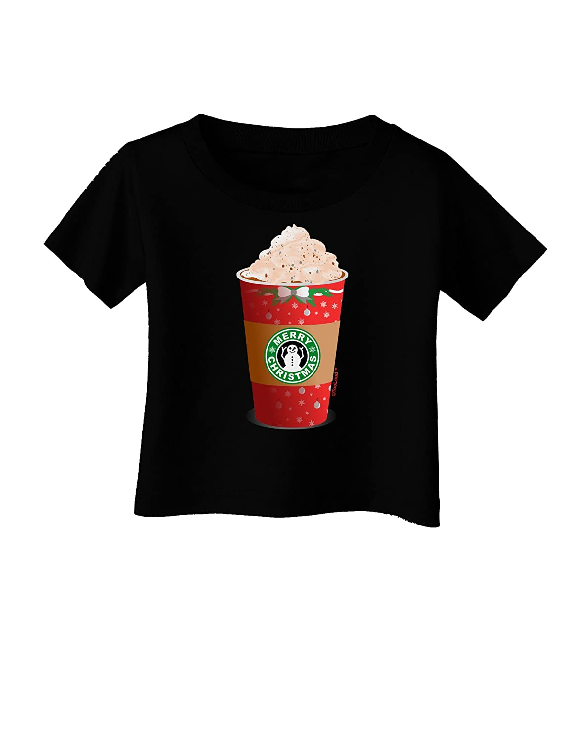 TooLoud Merry Christmas Latte Cup Infant T-Shirt Dark