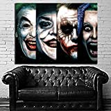 Poster Mural Comic 4 Generatioin Joker Pop Art Movie Batman 35x47 inch (90x120 cm) Canvas #52