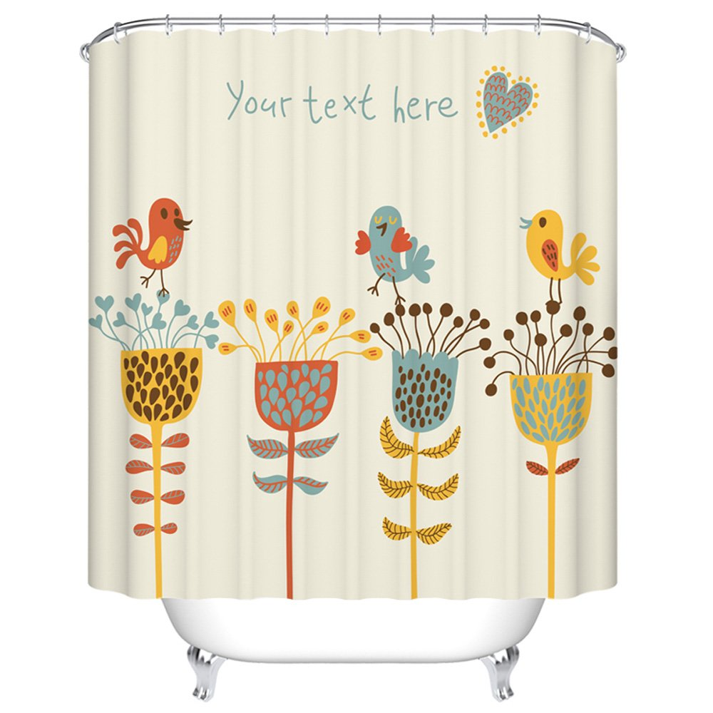 ChezMax Shinny Christmas Tree Waterproof Bathroom Fabric Shower Curtain with 7 Hooks 36 W x 72 L CM-YT-Fashion-4-92*183